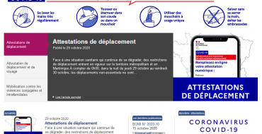 Attestations de déplacement en période de confinement